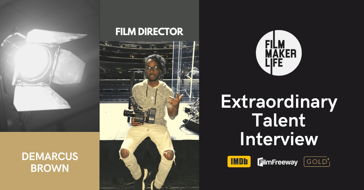 Extraordinary Talent Interview with the Film Director Demarcus Brown,  for the Short Film 'Gravel Wounds'